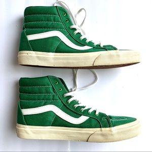 Vans Skate / Sk8 HI Green Skate Shoes Size 9.5